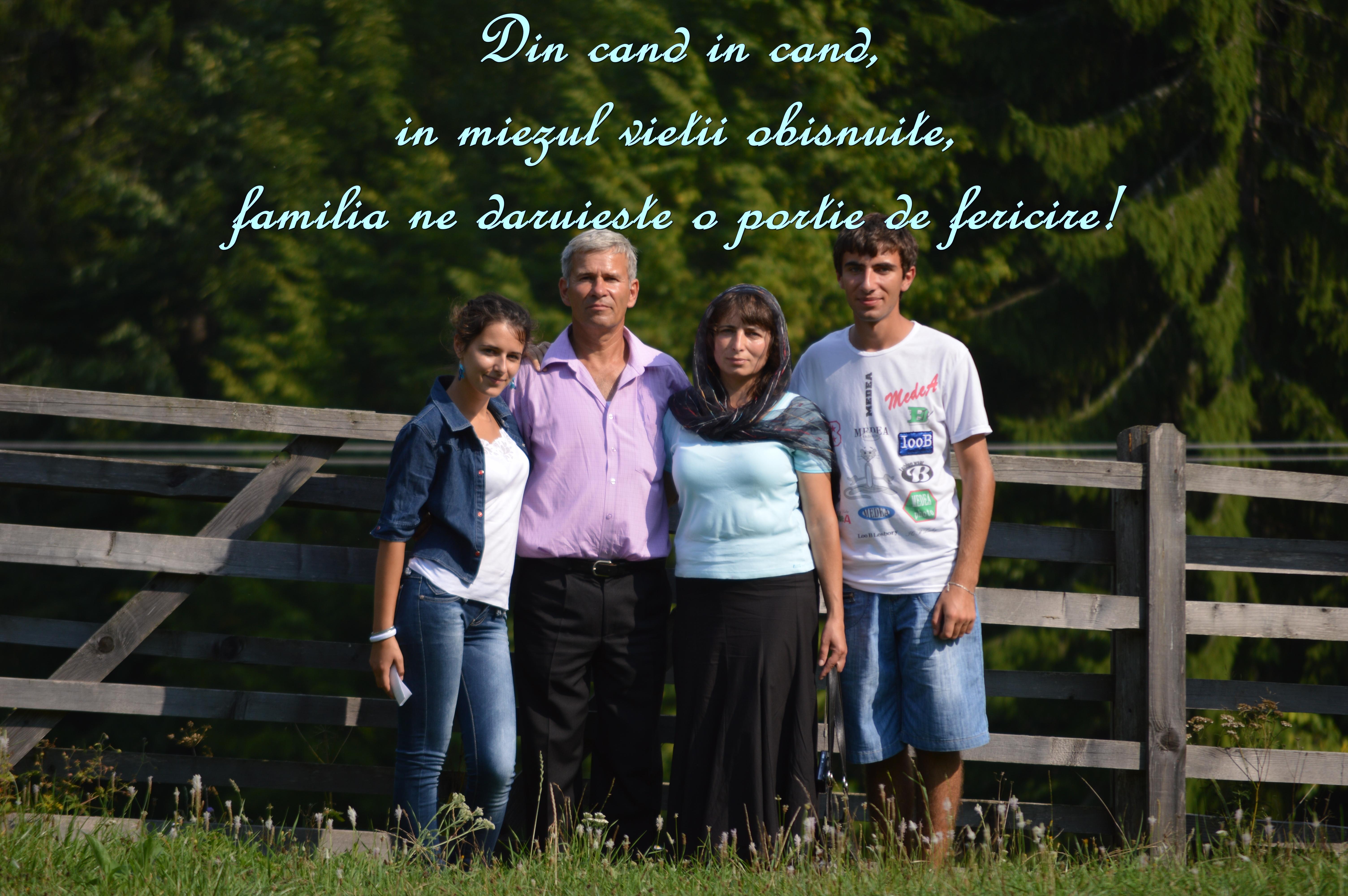familia o portie de fericire