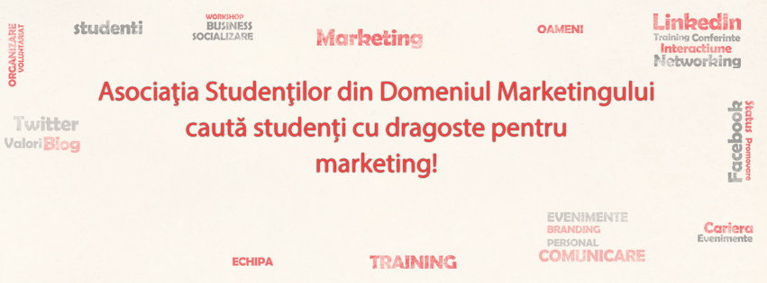 cautam studenti cu dragoste pentru marketing cover facebook
