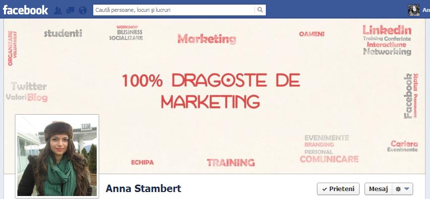 profil facebook in perioada de teasing pentru recrutari