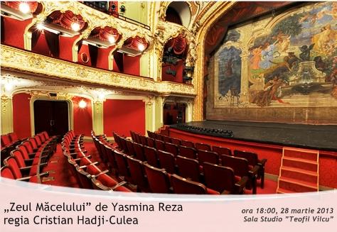 """Teatrul Național """"Vasile Alecsandri"""" Iași """"Zeul Măcelului"""" de Yasmina Reza, regia Cristian Hadji-Culea"""