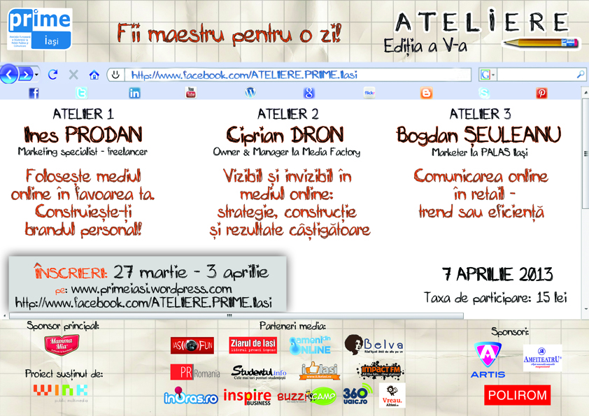 workshopuri despre mediul online eveniment iasi