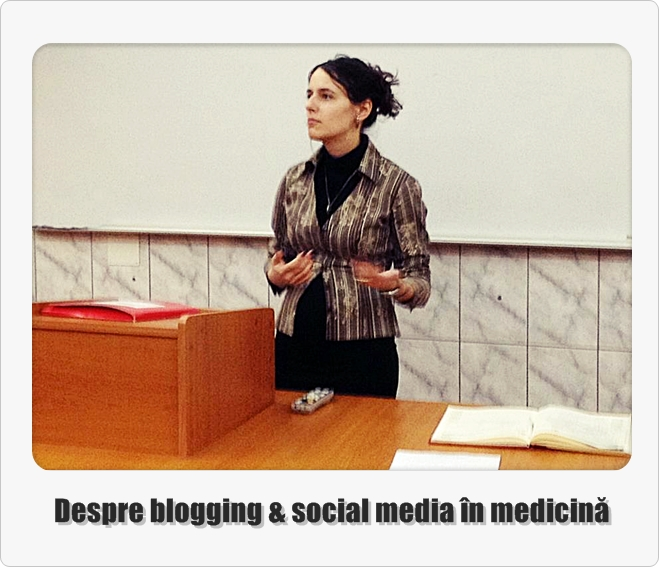 Anca Balaban Popa Iscu despre blogging social media in medicina