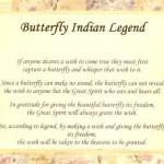 O legenda veche despre fluturi
