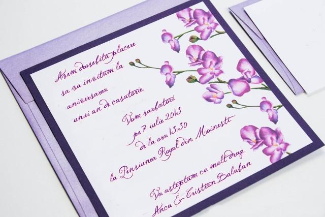 invitatie aniversare 1 an casatorie nunta de hartie