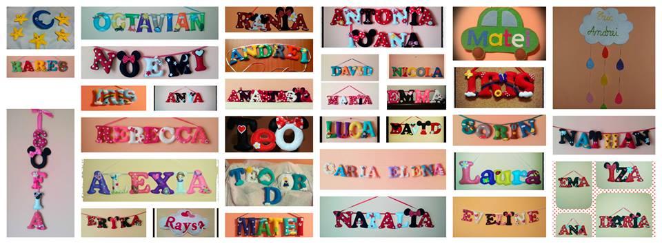 ghirlanda decorativa litere nume copii
