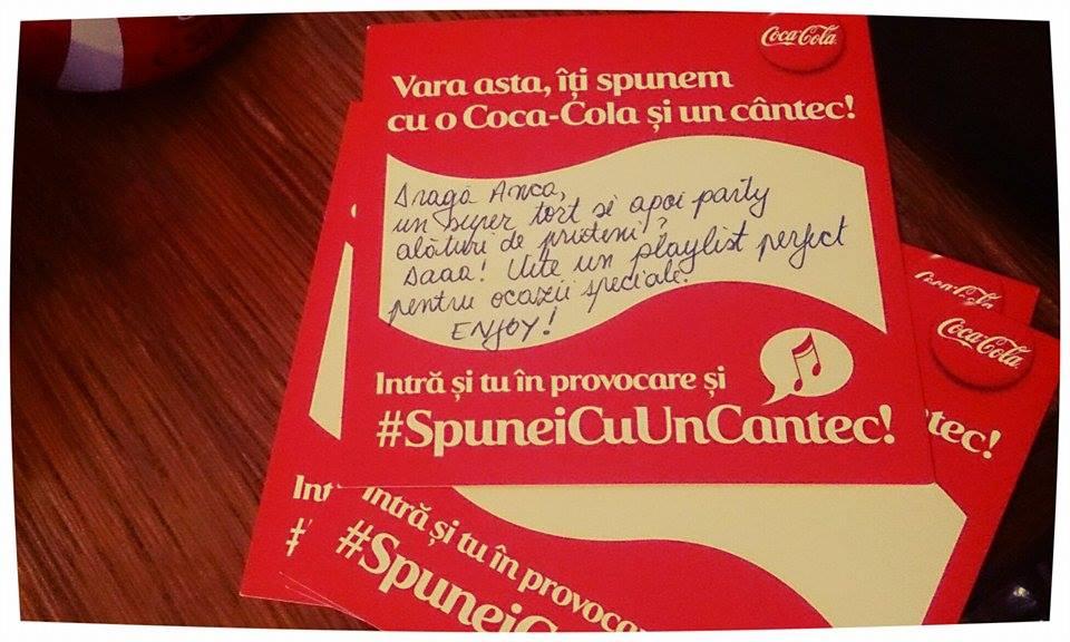 mesaj surpriza de la coca cola romania