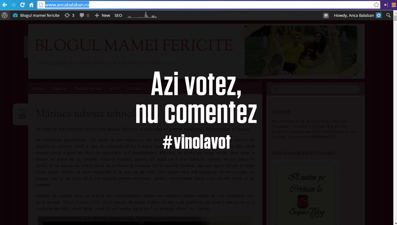 azi votez nu comentez - campanie civica de alegerile prezidentiale 2014