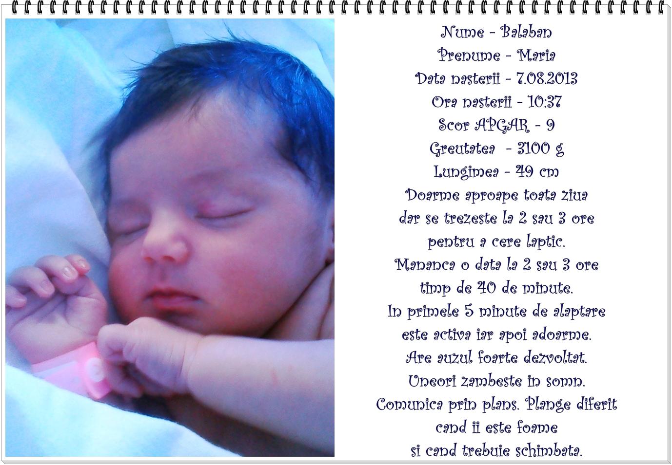 00. detalii de la nastere despre bebe
