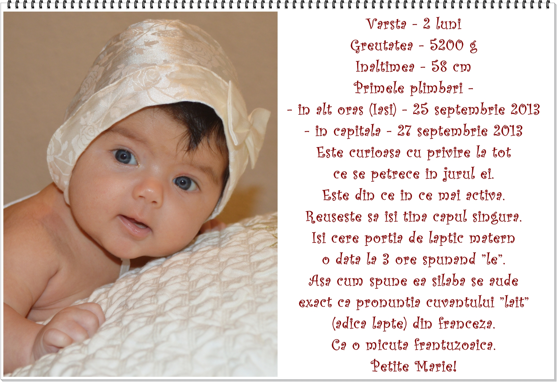 02. detalii despre bebe la 2 luni