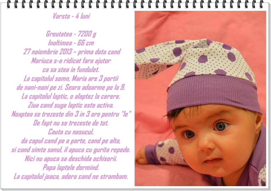 04. detalii despre bebe la 4 luni