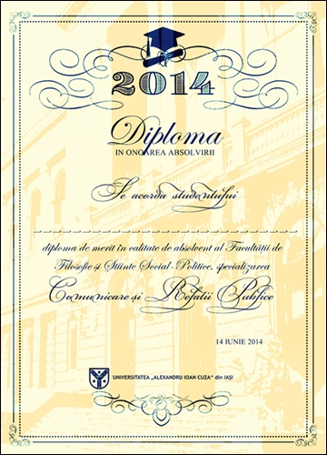 DIPLOMA curs festiv absolvire facultatea de comunicare si relatii publice