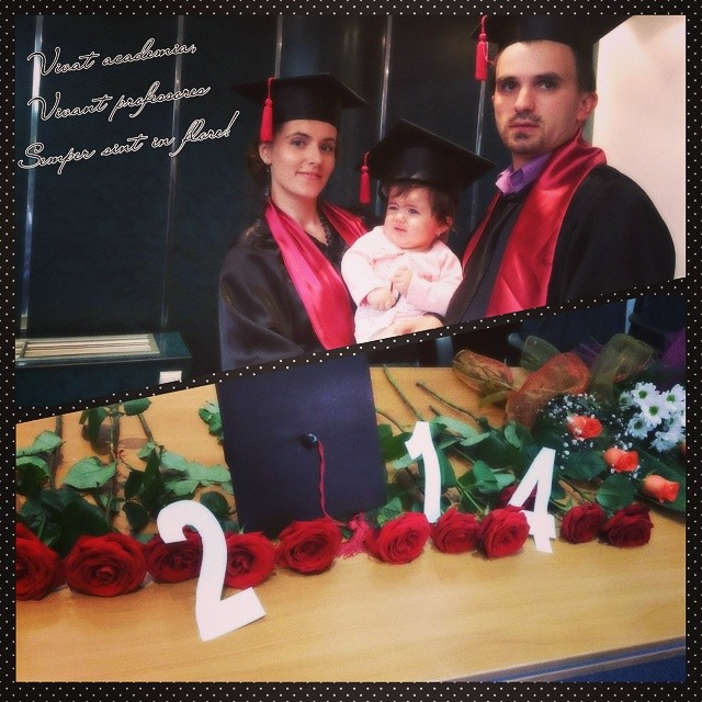 curs festiv absolvire portret de familie