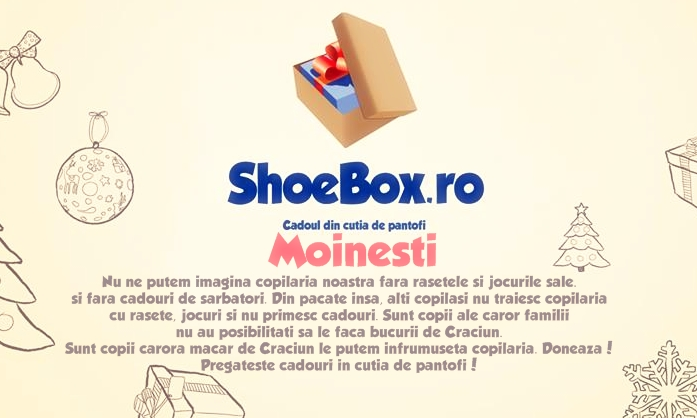 mesaj motivational pentru donatori shoebox moinesti