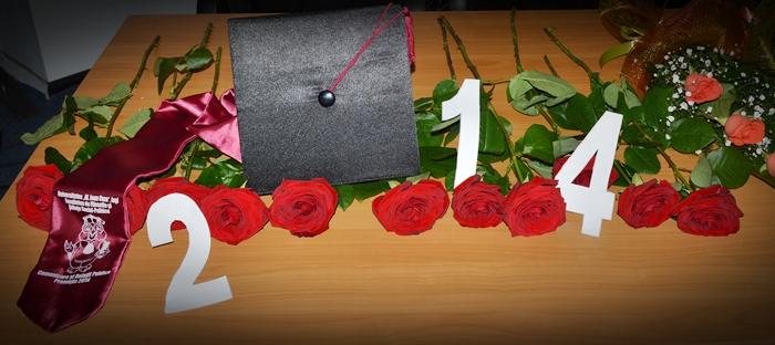 roba toca esarfa personalizata flori curs festiv absolvire