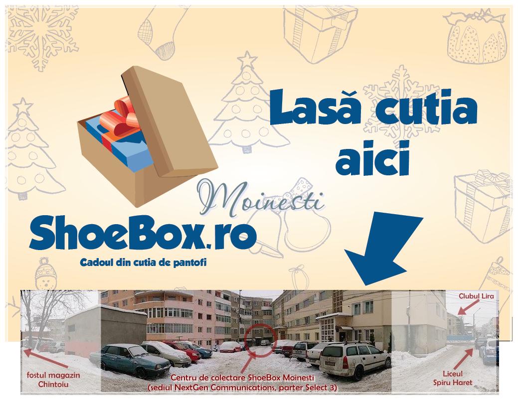 semn lasa cutia aici shoebox moinesti