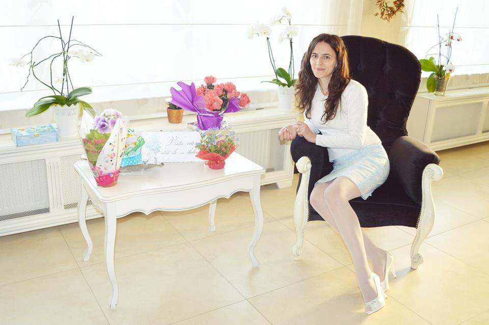 poza cu flori primite la aniversarea blogului anca balaban