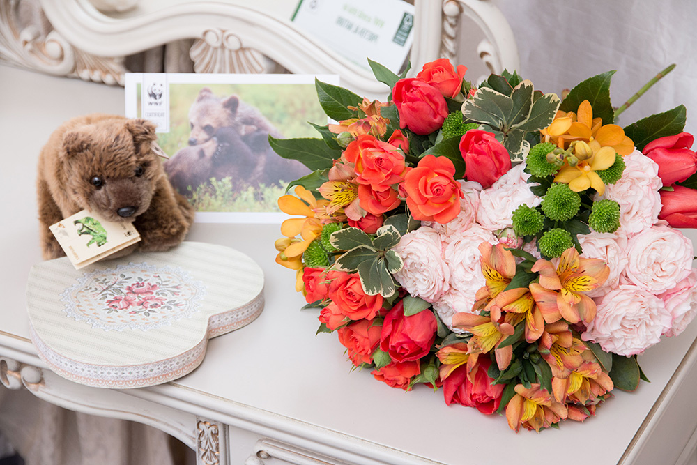 wwf romania ursulet de plus felicitare buchet de flori floria florarie online