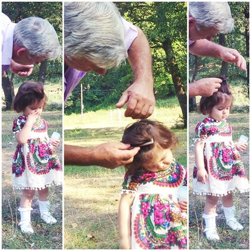 bunicul piaptana nepoata petrecere 2 ani