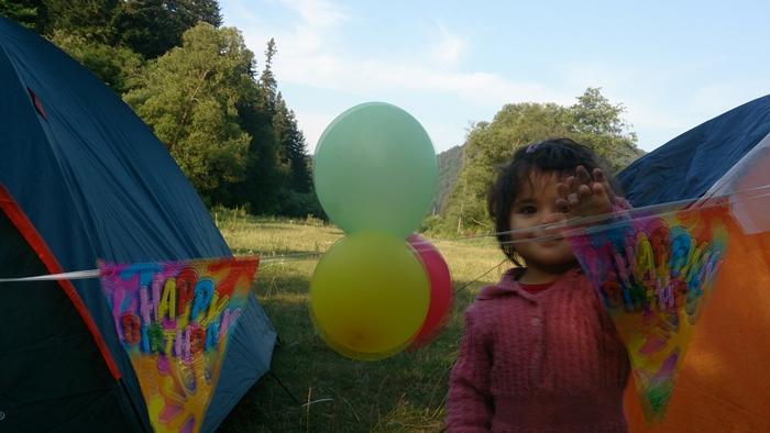 petrecere 2 ani cort baloane stegulete