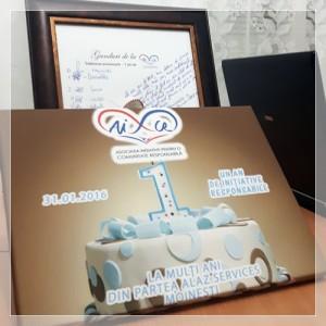 cadou aniversare ONG AICR Moinesti 1 an initiative si proiecte pentru Moinesti si imprejurimi