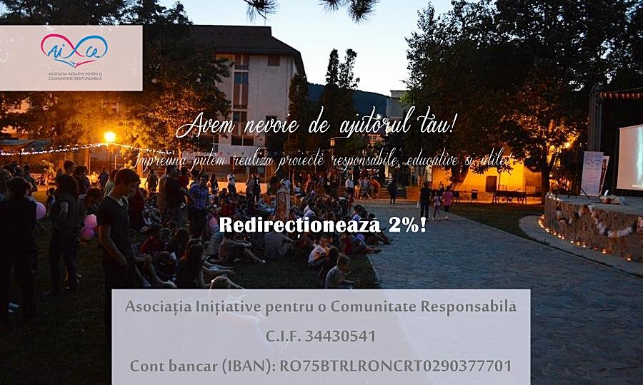 redirectioneaza 2% pentru AICR Moinesti