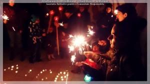ora pamantului 2015 aicr moinesti aprindere artificii mici