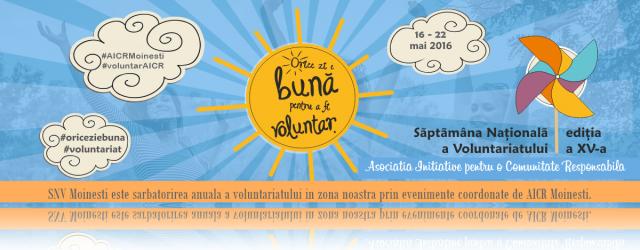 SNV Moinesti saptamana nationala a voluntariatului evenimente organizate de AICR Moinesti