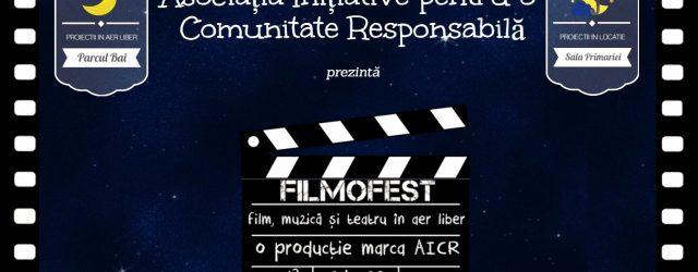 festival de film muzica si teatru in aer liber initiat si organizat de AICR Moinesti
